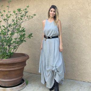Free People striped Asymmetrical Maxi Dress, M